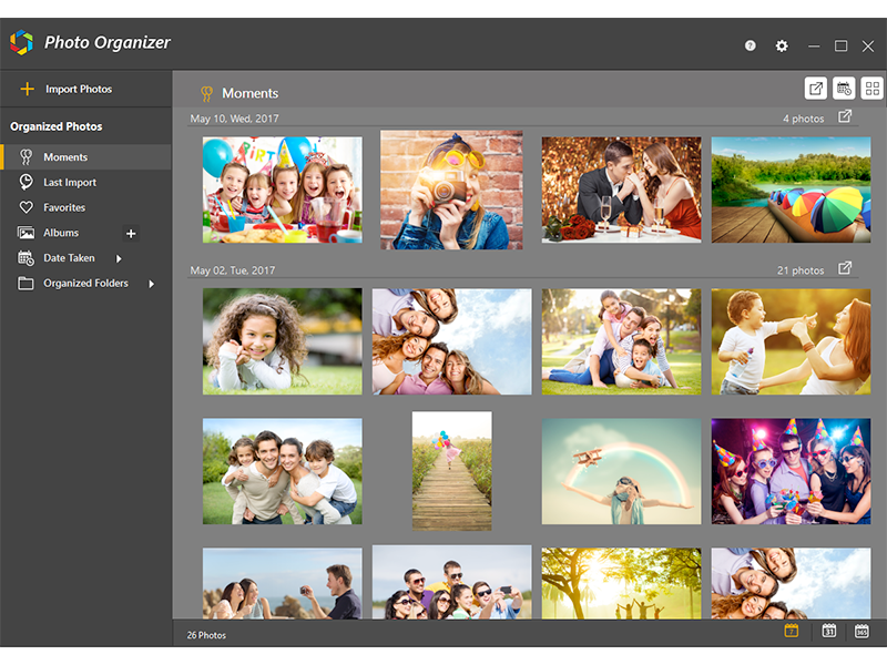 Optimize & streamline Photos library in a single location using Photo Organi latest Screen Shot