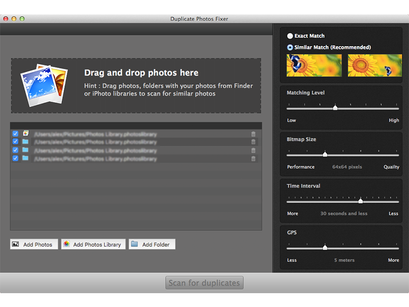 Duplicate Photos Fixer For Mac full screenshot