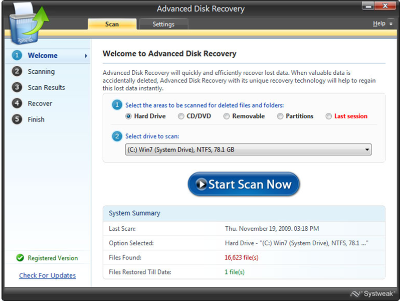 Advanced Disk Recovery 2.7.1100.17680