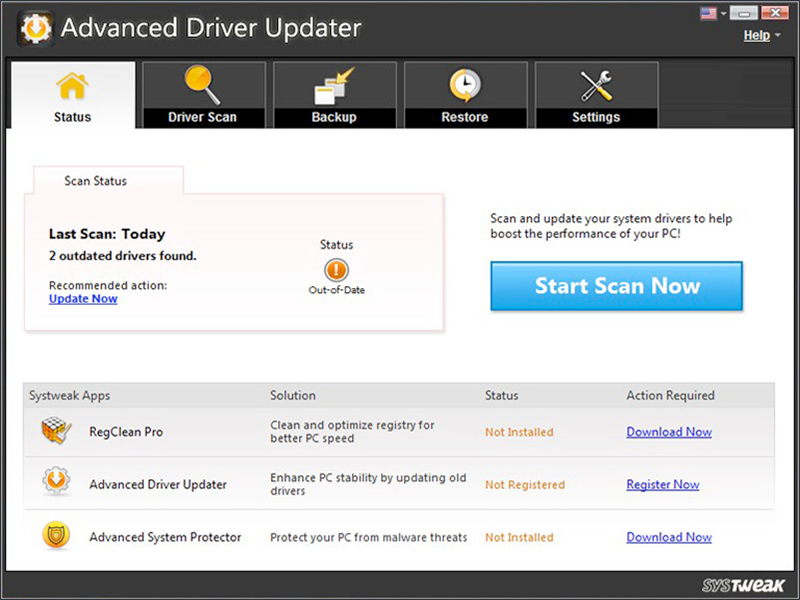 Advanced Driver Updater full screenshot