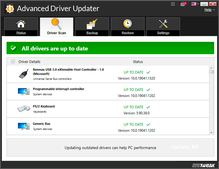 Updated Drivers Installation Succesfull