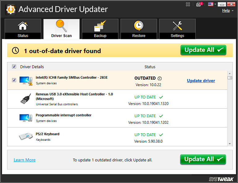 Advanced Driver Updater screenshot