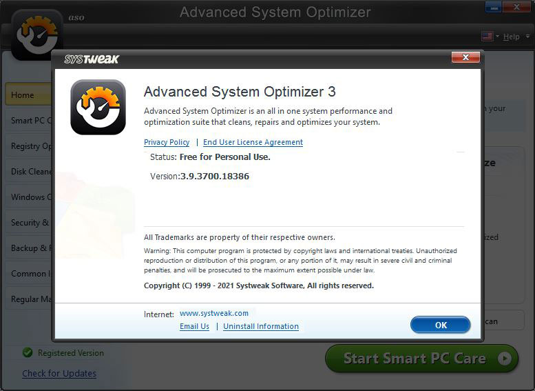 Advance System Optimizer - Smart PC care