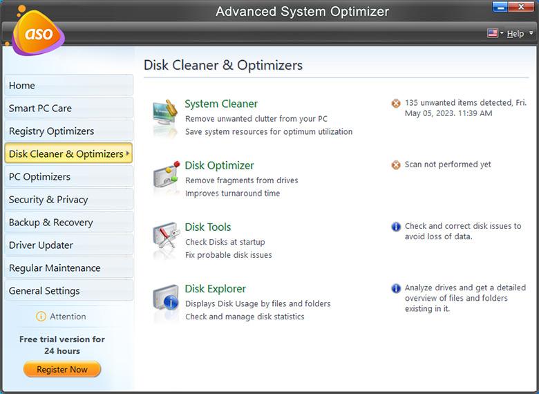 Advance System Optimizer - Disk Optimizers