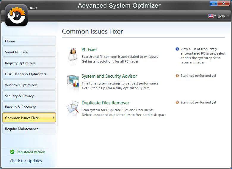 Advance System Optimizer - PC Fixer