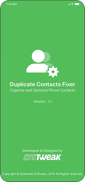 Duplicate Contact fixer - systweak software