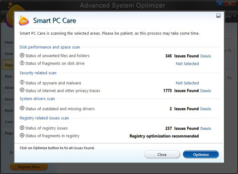 Advance System Optimizer - Smart PC care