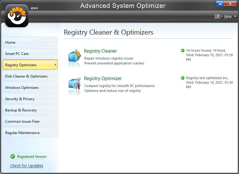 Advance System Optimizer - Registry Cleaner