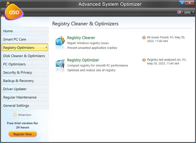 Advance System Optimizer - Registry Cleaner