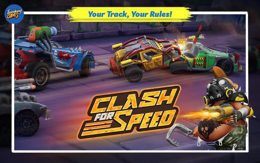 bentrokan untuk game balap kecepatan-offline