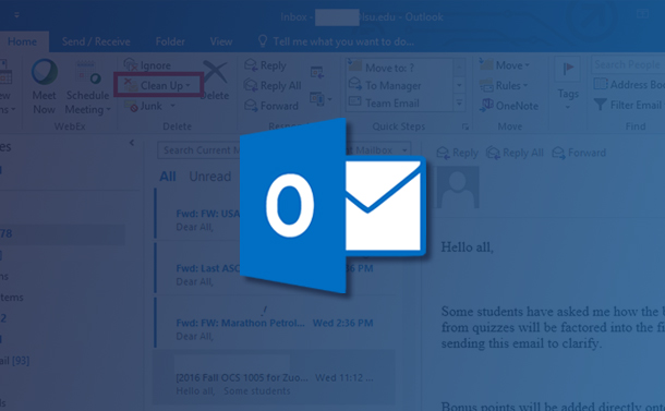 MS Outlook: Conversation Cleanup Tool to Keep Your Emails Organized
