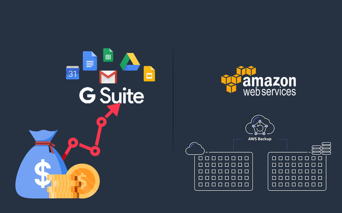 Newsletter: Amazon Web Services Announce AWS Backup & Google Hikes G Suite Prices
