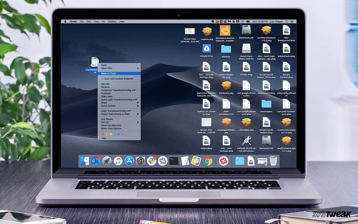 How to delete locked app on mac