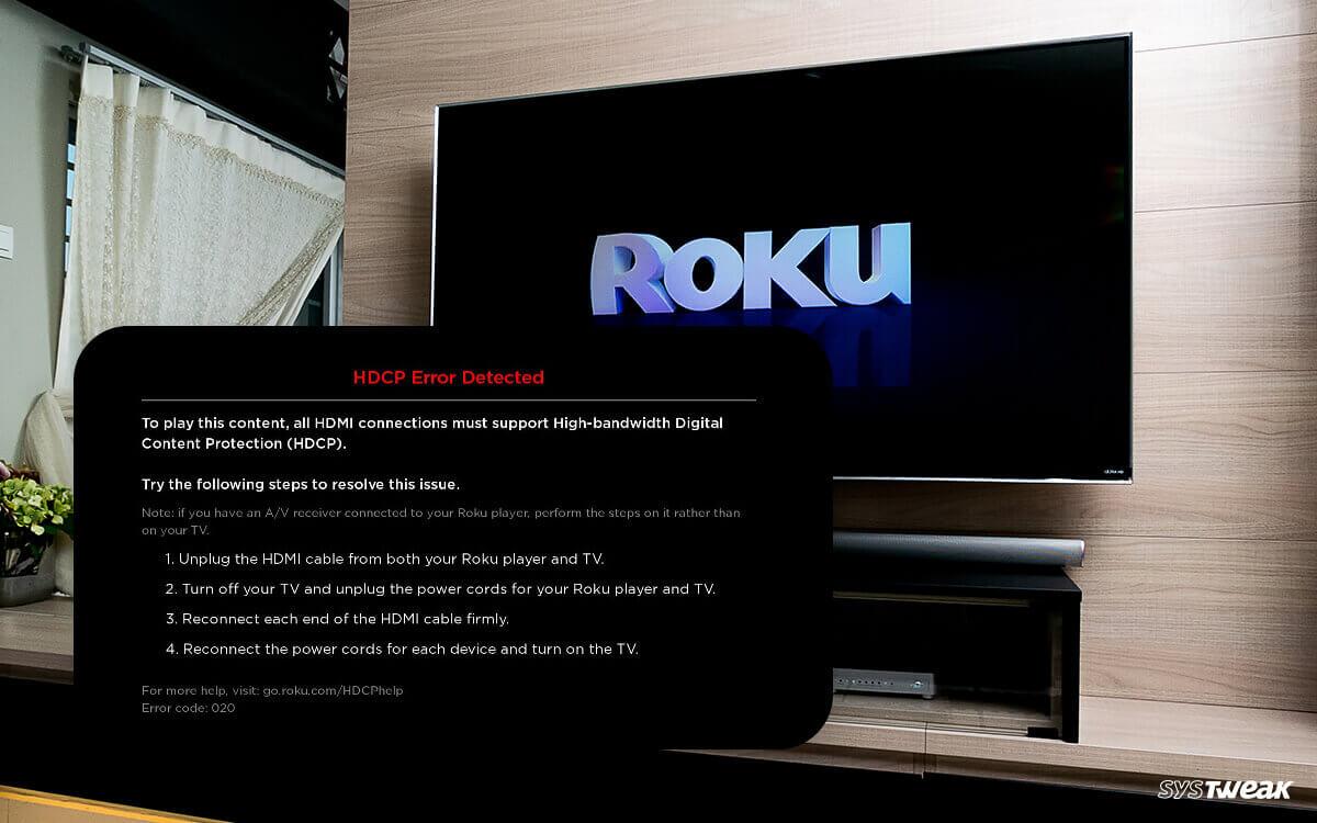 How to Fix Roku HDCP Error or A Purple Screen?
