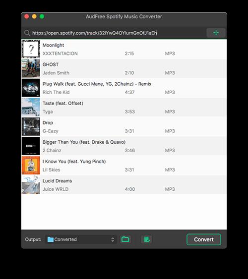 Trình chuyển đổi âm nhạc Audify Spotify