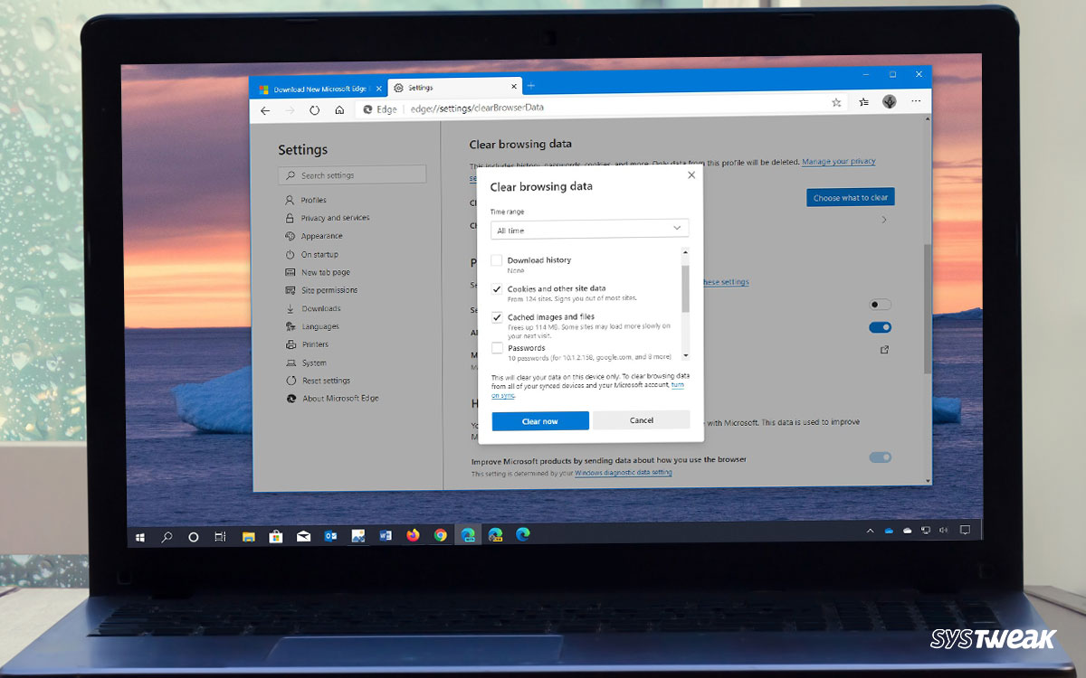 How To Clear Cache In Edge Browser Along With Cookies?