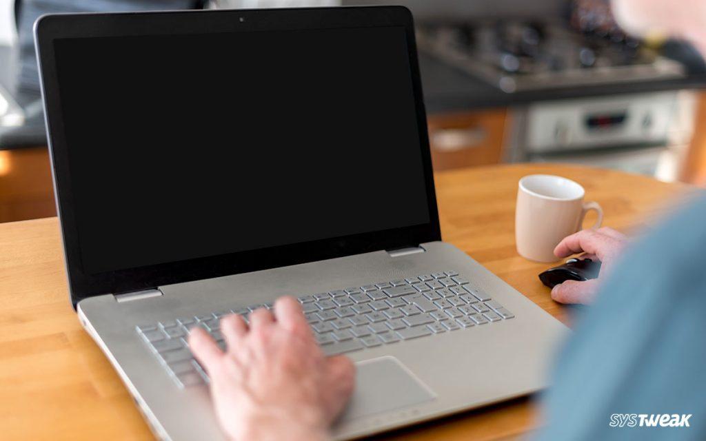 how to repair black screen on laptop