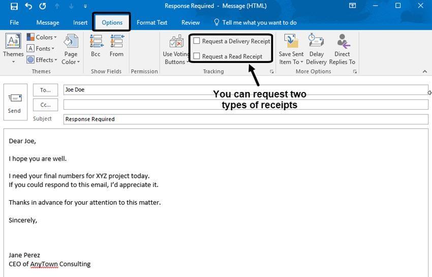 تتبع حالة قراءة البريد الإلكتروني على Microsoft Outlook