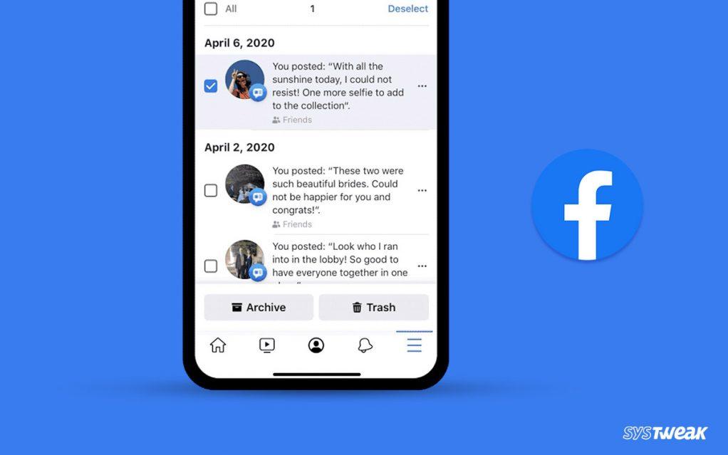 Facebook's Unveils New Bulk- Delete Old Posts & Hide Content Feature