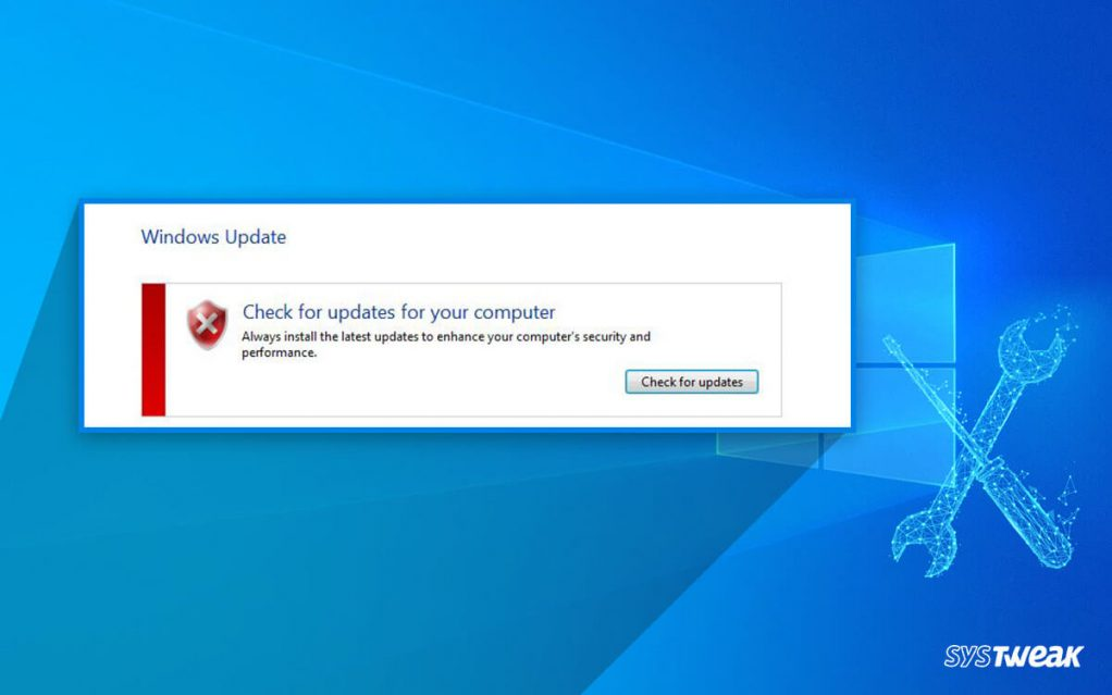 Fix: Windows Update Cannot Currently Check For Updates