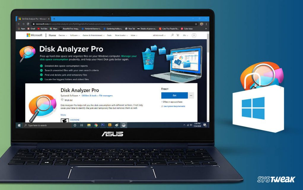 Systweak's Disk Analyzer Pro Now Available at Microsoft Windows Store
