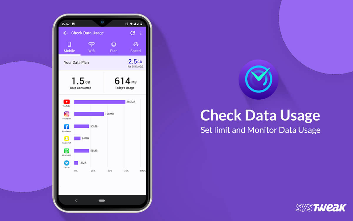 Systweak Revamps Check Data Usage Android App