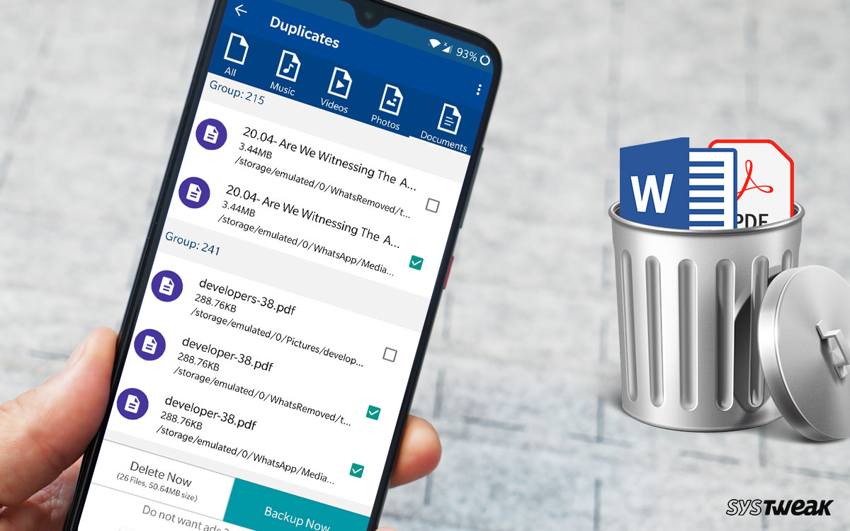 How To Remove Duplicate Word Documents And PDFs On Android?