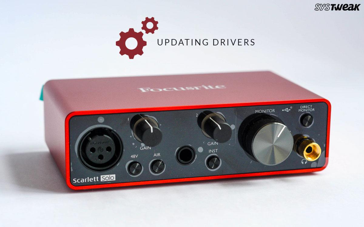 How To Update Focusrite Scarlett 6i6 Driver