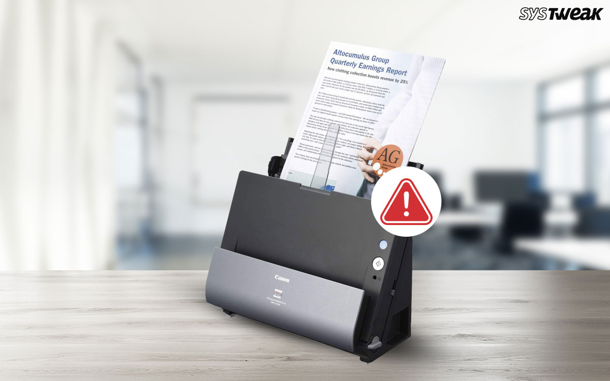 How To Fix Canon DR-C225 Driver Issues In Windows 10?