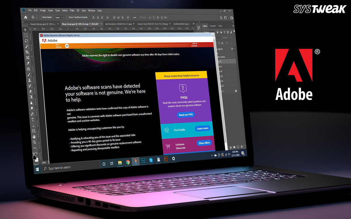 Adobe Genuine Software Integrity Service: Fix for Windows and Mac