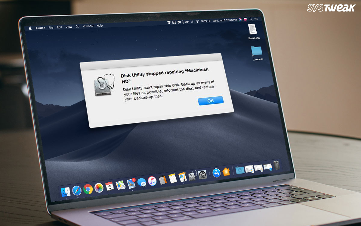 """Disk Utility Can't Repair This Disk"" Error On MacBook (Solved)"