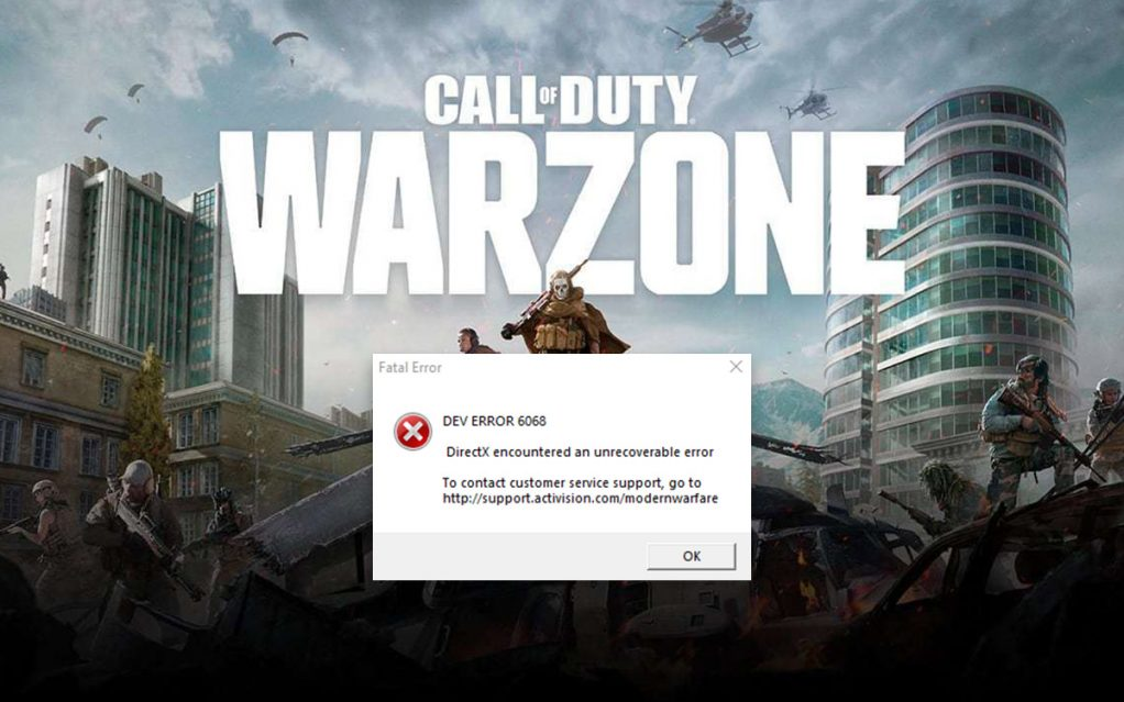 How To Fix Call Of Duty Warzone Dev Error 6068 In Windows 10?