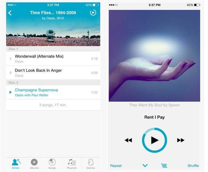 10 Best Music Player Apps For Iphone Free Iphone Music Apps