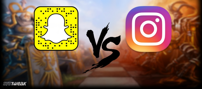 Which is Better? Instagram VS Snapchat – Infographic