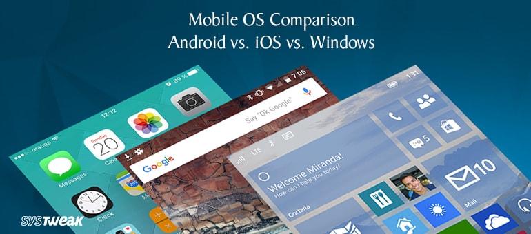 Mobile OS Comparison: Android vs iOS vs Windows  – Infographic