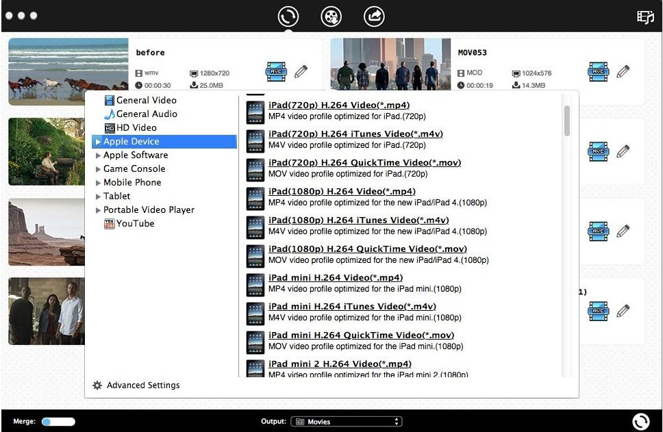 Video converter to ipad format