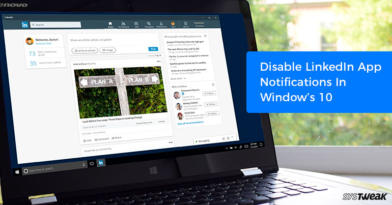 How to Disable LinkedIn App Notifications in Windows 10