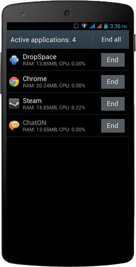 Manage Background Running Apps